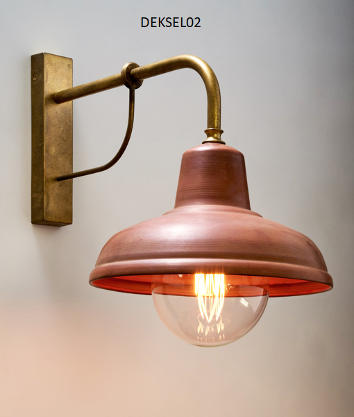 DEKSEL02: Aged Copper Interior wall/ pendant & exterior wall lights. ES 60W. IP23