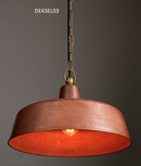 DEKSEL03: Interior/Exterior Aged Copper Interior wall/ pendant & exterior wall lights. ES 60W. IP23. OD400mm