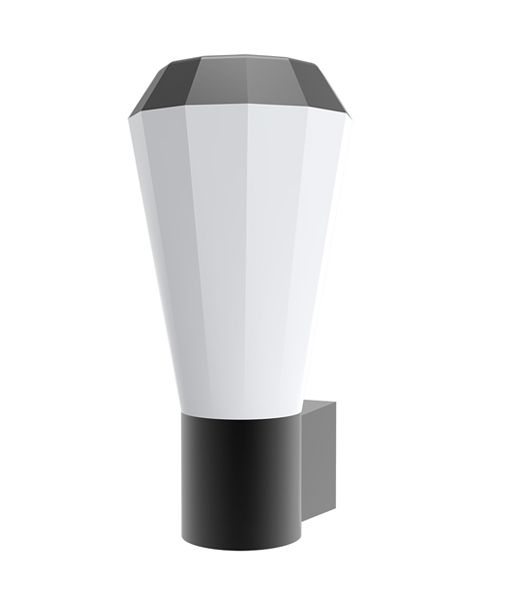 GEB1- Exterior Wall Light LED. S/M Dark Grey Tapered 3000K 13W IP54