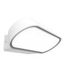 GLANS02: Exterior LED surface mounted wall lights. White 230V 3000K 7W IP65 112D GLANS04: 13W