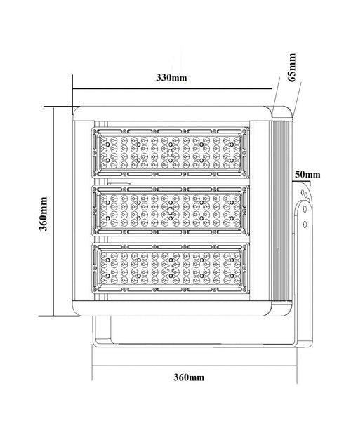 HIB: LED Rectangular Dimmable High Bay