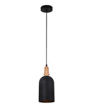 HORTEN2: Interior single pendant light. ES Lamp. 72W MATT Black OBLONG D150mm x H350mm 3m cable. CLA Lighting. 1yr warranty