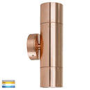 HV1015T-HV1017T - Tivah Solid Copper TRI Colour Up & Down Wall Pillar Lights