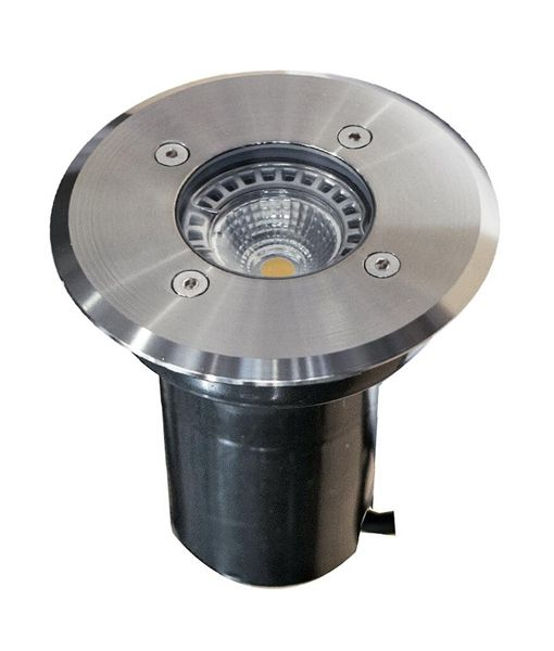 IGMLSS: Exterior 12V MR16 recessed inground up lights. SS316 Round OD Faceplate 120mm IP67