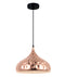 KOPER3: Interior single pendant light. ES 72W COPPER PLATED DOME D330mm x H250mm 3m cable. CLA Lighting.