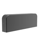KUK1: Exterior LED surface mounted wall lights. Surface Mount Dark Grey Rect 3000K 10W IP54 45D