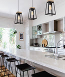 LANTERNA: Wood Trapezium Pendant Lights