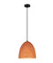 LIGNA01: Interior single pendant light. ES 72W OBLONG Cherry Cinnamon OD250mm x H280mm 3m cable. CLA Lighting.