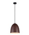LIGNA03: Interior single pendant light. ES 72W OBLONG Black Walnut OD250mm x H280mm 3m cable. CLA Lighting.