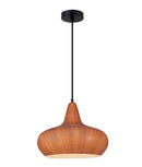 LIGNA04: Interior single pendant light. ES 72W WINE GLASS Cherry Cinnamon OD400mm x H320mm 3m cable. CLA Lighting.