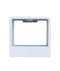 LONDON: Interior LED surface mounted wall light. MATT White CUBE UP/Down 6W 120D 3000K (450 Lumens). CLA Lighting.