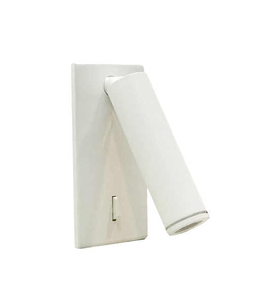 LYON: LED Recessed white wall light / reading light. Adjustable Reading Light WH 3W 3000K, Warm White (342Lm) IP20 120x60mm 120D