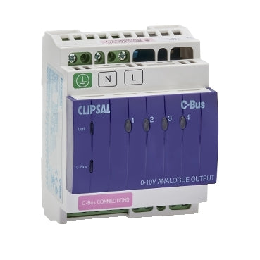 Clipsal C-Bus Din Rail Mounted Analogue Output Unit, 4 Channel, 240V