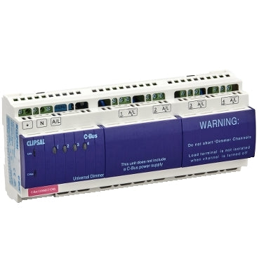 L5504D2UP: Clipsal C-Bus 4 Channel Universal Dimmer Unit. LED. IP20.