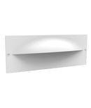 OGA02: Exterior LED Recessed Wall Lights. White 3000K 13W IP65 120D (380 Lumens) W250mm x H98mm x D105mm.