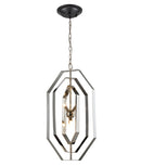 ORBITA1: Interior single pendant light. G9 X 4 Polished Nickel Hardware with Stainless Steel OD360mm x H640mm