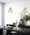 ORDITO: Chrome with Glass Pendant lights