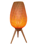 OSIER: Interior table lamp. ES Lamp 240V 5W (incl LED Flame Lamp). CLA Lighting. Shade: clear coated wood.