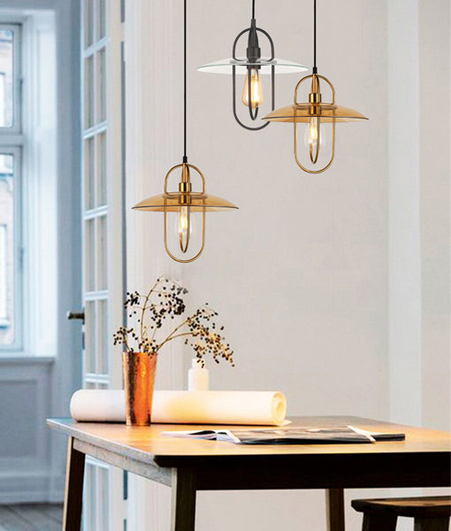 PAPILLON2: Interior PENDANT ES 72W Antique Brass Oblong with Amber Glass Coolie. CLA Lighting