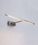 PARIS: Interior LED surface mounted wall light. LED Satin Chrome Adjustable 6W 120D 3000K (611 Lumens) IP20 internal