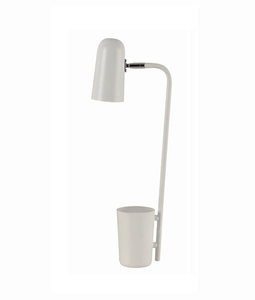 PASTEL15TL: Interior table lamp, reading lamp. SES Matte WHITE W160mm x H490mm. CLA Lighting.