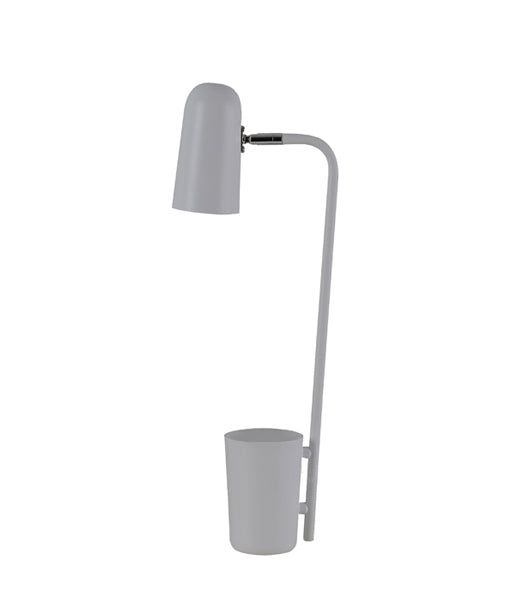 PASTEL18TL: Interior table lamps, reading lamp. SES Matte GREY W160mm x H490mm. CLA Lighting.