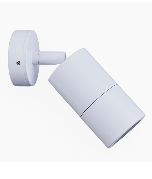 PG1AWH:  GU10 Exterior wall pillar spotlights (White). Max 35w. IP65