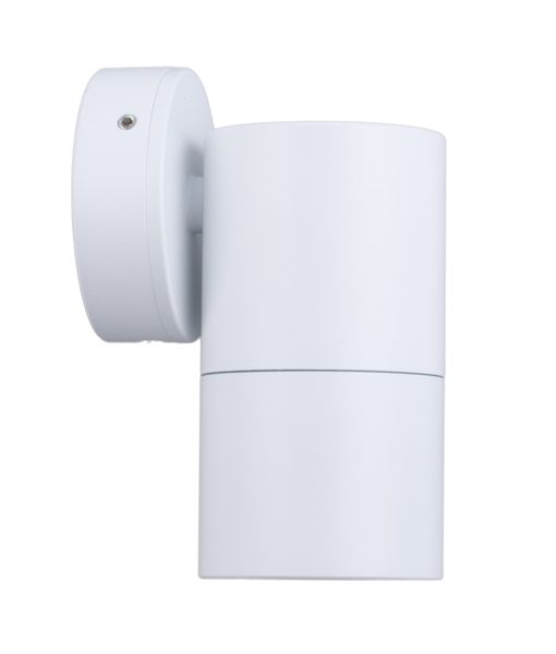 PG1FWH:  GU10 Exterior wall pillar spotlights (White). Max 35w. IP65