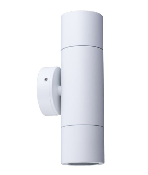 PGUDWH:  GU10 Exterior wall pillar spotlights (White). Max 35w. IP65