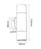 PMUDWH: MR16 Exterior Wall Pillar Lights (White) UP/DOWN IP65 SIZE