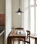 PIATTO1: Interior single pendant light. ES Lamp 72W Black COOLIE Large OD360mm x H150mm 3m cable. CLA Lighting