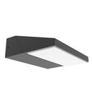 PLANA01: Exterior LED adjustable surface mounted wall lights. Dark Grey Adjustable Wedge 3000K. 13w