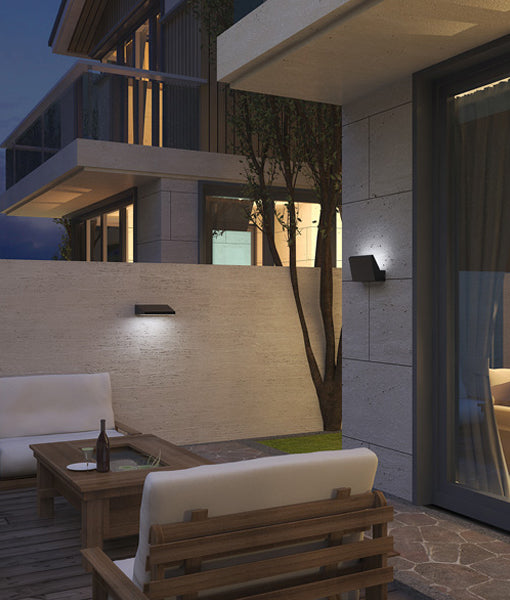PLANA: Exterior LED Adjustable Surface Mounted Wall Lights