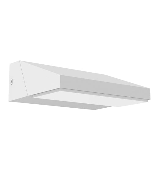 PLANA02: Exterior LED adjustable surface mounted wall lights. White Adjustable Wedge 3000K. 13w