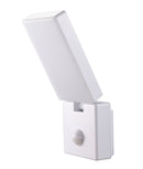 SEC03S: Surface Mounted LED Security Lights with Sensors. 15W S/ADJ White