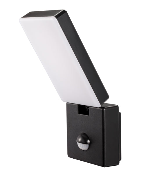 SEC04S: Surface Mounted LED Security Lights with Sensors. 15W S/ADJ Black