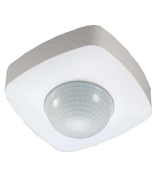 SENS005- SENSOR Ceiling S/M WH SQ 3 Wire 360D (Detection Distance 20m max) (Install Height 2.2-6m) OD 102.5mm