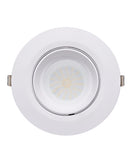 SHOPTRI01: LED Dual Power & Tri-CCT Gimbal White Recessed Shop Lighter. Remote Constant Current driver included