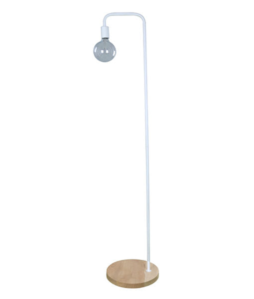 SLIM-F1: Interior & floor lamps. ES 45W BLONDE WOOD/White OD300mm x H1610mm. CLA Lighting.