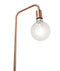 SLIM-F1C: Interior & floor lamps. ES 45W BLONDE WOOD/Copper OD300mm x H1610mm. CLA Lighting.