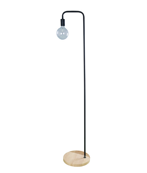 SLIM-F2: Interior & floor lamps. ES 45W BLONDE WOOD/Black OD300mm x H1610mm. CLA Lighting.
