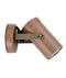 SG1ACECA, SM1ACECA: GU10/MR16 exterior aged copper wall spotlights. IP54. Anti-glare honey comb louver