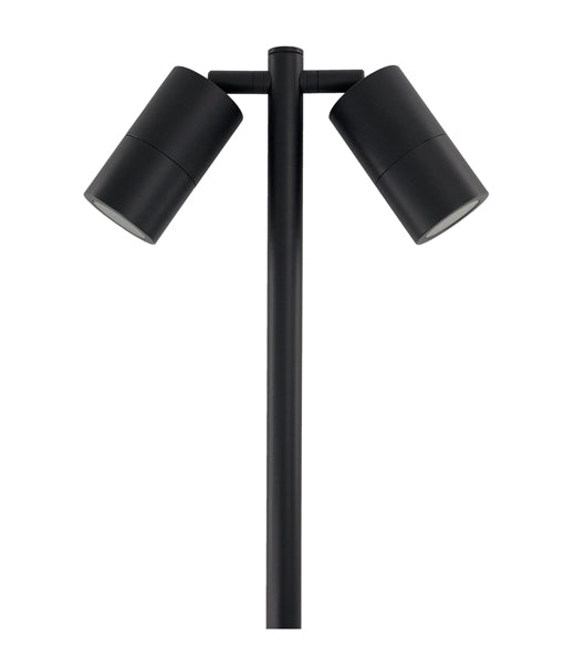 SPM2ALBL: MR16 Exterior Spike Lights. SPIKE MR16 12V D/ADJ BLACK L1000mm IP65 (no globes) WTY 2YR (126)