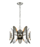 STRATO1: Interior single pendant light. SES X 10 Polished Nickel Hardware with Stainless Steel OD 604mm x H3500mm. CLA Lighting