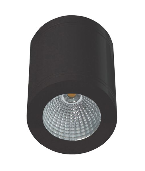 SURFACE: LED Dimmable Surface Mounted ceiling downlights. 13 Watt. White gloss and black finish