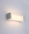 VIENNA: Interior LED surface mounted wall light. CITY LED MATT White Rectangle with Clear / Frost Ribbed Diffuser 12W 120D 3000K