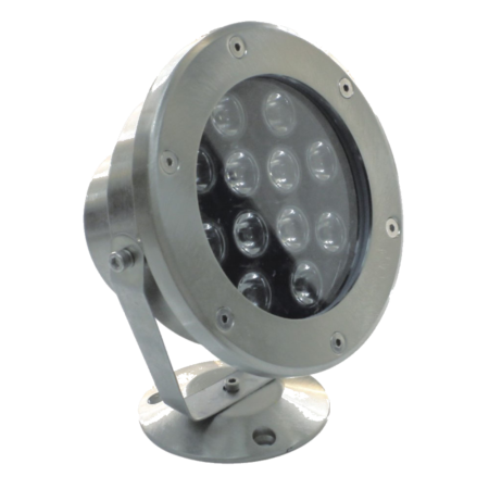 PL003, PL004: LED Pool Lights, 14W, DC 12V, 960 or 1000 lumen output, 25 beam angle, 3000k or 6000k, IP68, Stainless steel. Azoogi