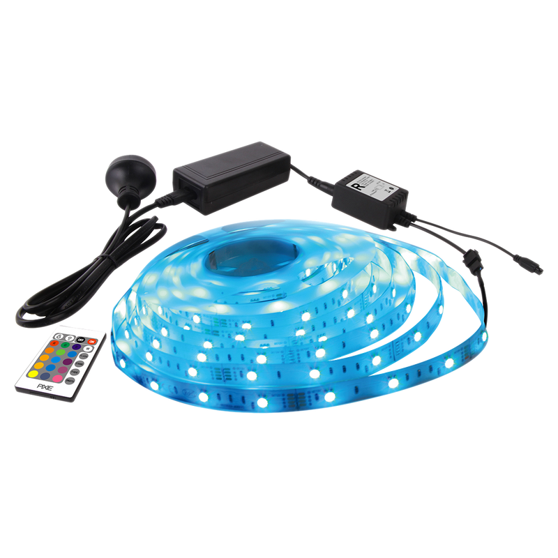 12V LV RGB LED STRIP FLP12V5MRGB PRE-WIRED STRIP KIT