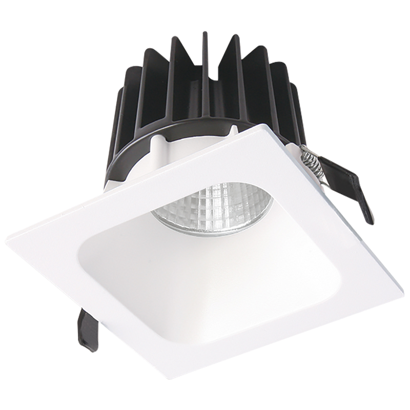 BENTO S9691- LED downlight, Deep recessed angle fitting. White matt powder coat finish. Input voltage 240. Wattage 5, 8, 13, 27, 34, 38