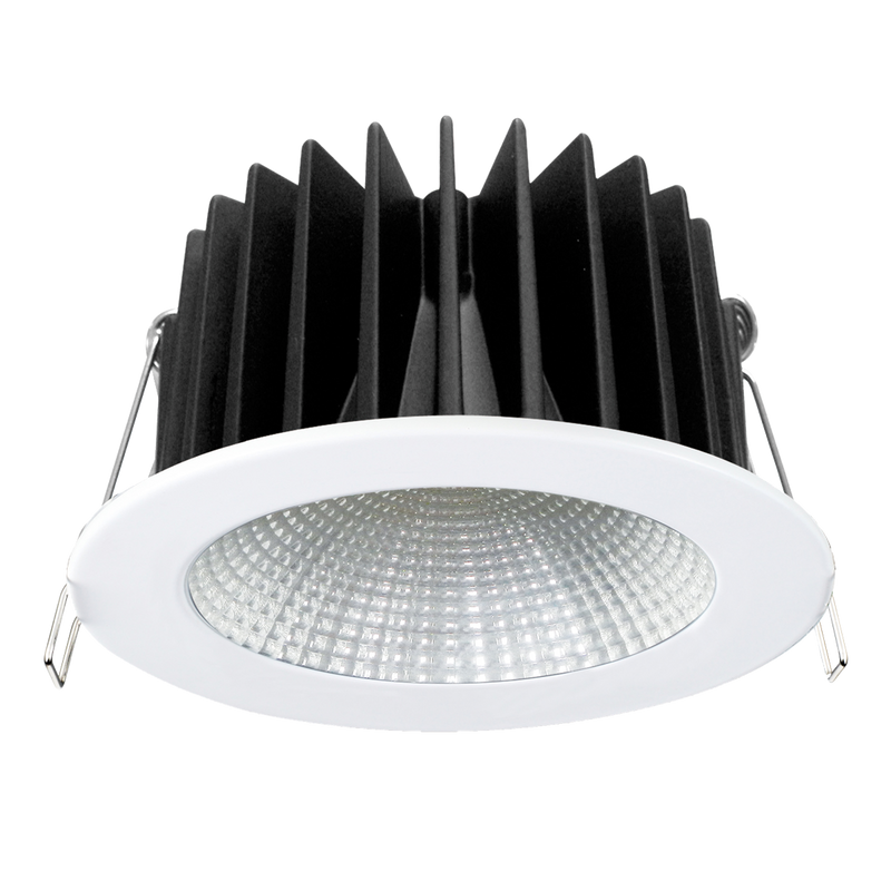 ECOSTAR S9048- Dimmable 12 watt LED downlight, IC-4 rated. Multi-reflector system